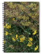 Painted Fall Flowers Spiral Notebook