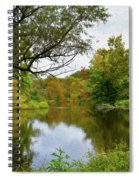 Painted Fall On The Back Pond Spiral Notebook