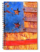 Painted Us Flag, Georgia, Usa Spiral Notebook