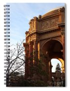 Palace Of Fine Arts At Sunset Spiral Notebook