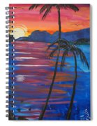 Palm Trees And Water Spiral Notebook