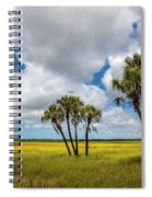 Palm Trees In The Field Of Coreopsis Spiral Notebook
