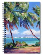 Palms At The Island's End Spiral Notebook