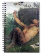 Pan Whistling At A Blackbird 1863 Spiral Notebook