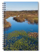 Panorama Of Mouth Of Betsie River Spiral Notebook