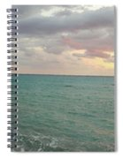 Panoramic View Of Aphrodite's Birthplace Or Petra Tou Romiou In Cyprus Spiral Notebook