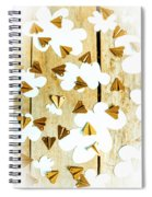 Paper Clouds And Metal Planes Spiral Notebook