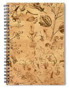 Paper Petal Patterns Spiral Notebook