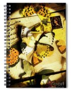 Paper Wings And Inked Out Notes Spiral Notebook