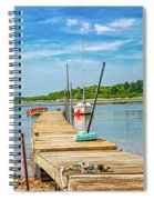 Paradise Sailing Day In Maine Spiral Notebook