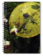 Parasol Among The Orchids Spiral Notebook
