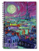 Paris By Moonlight Spiral Notebook