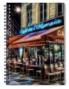 Paris Cafe Spiral Notebook