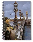 Paris-pont Alexandre Terzo Spiral Notebook
