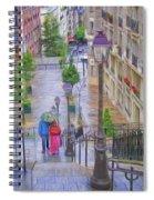 Paris Sous La Pluie Spiral Notebook