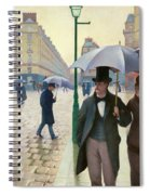 Paris Street In Rainy Weather - Digital Remastered Edition Spiral Notebook