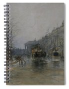Paris Street Scene  Spiral Notebook