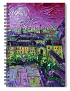 Paris View With Gargoyles Diptych Oil Painting Right Panel Spiral Notebook