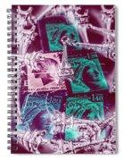 Parisian Postmarks Spiral Notebook