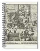 Parma Knighted In The Order Of The Golden Fleece, 1585, Anonymous, After Frans Hogenberg, 1613 - 161 Spiral Notebook