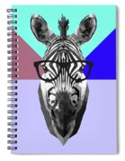 Party Zebra In Glasses Spiral Notebook