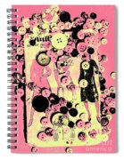 Past Patterns And Bygone Buttons Spiral Notebook