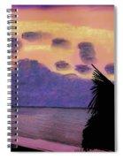 Pastel Palm Tree Sunrise Spiral Notebook
