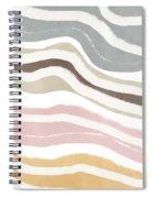 Pastel Waves 2- Art By Linda Woods Spiral Notebook