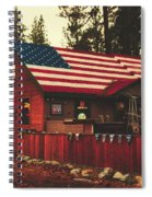 Patriotic Bar And Grill Spiral Notebook