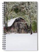 Patriotic Barn In The Snow Spiral Notebook