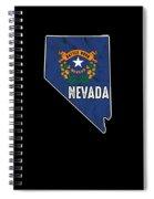 Patriotic Nevadan Nevada Flag Nationalism Usa America Spiral Notebook