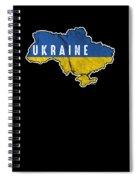 Patriotic Ukraine Flag Ukrainian Nationalism Spiral Notebook