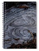 Patterns In Ice Spiral Notebook