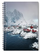 Peace Of Winter Spiral Notebook