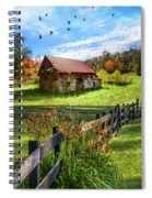 Peaceful Country Morning Spiral Notebook
