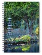 Peaceful Oasis - Japanese Garden Lake Spiral Notebook