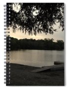 Peaceful Sunset At The Park Spiral Notebook