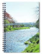 pedestrian bridge over river Tweed at Peebles Spiral Notebook