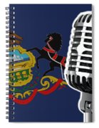 Pennsylvania Flag And Microphone Spiral Notebook