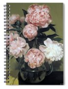 Peonies Front And Center Spiral Notebook