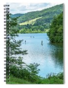 People Use Stand-up Paddleboards On Lake Habeeb At Rocky Gap Sta Spiral Notebook