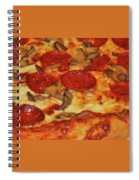 Pepperoni Pizza Mushrooms Spiral Notebook