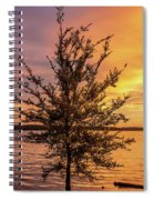 Percy Priest Lake Sunset Young Tree Spiral Notebook
