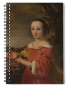 Petronella Elias       With A Basket Of Fruit  Spiral Notebook