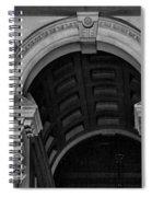 Philadelphia City Hall Fresco In Black And White Spiral Notebook