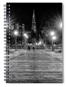 Pier 7 In Black And White Spiral Notebook