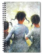 Pigtails Three Sisters Spiral Notebook