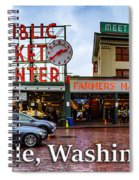 Pikes Place Public Market Center Seattle Washington Spiral Notebook