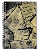 Piled Paper Postcards Spiral Notebook