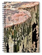 Pilings In Abstract Spiral Notebook